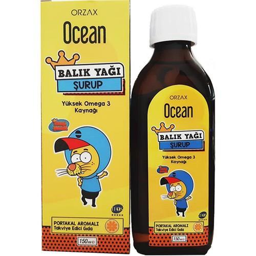 Orzax Ocean Balık Yağı Şurubu Kral Şakir Portakal 150 ml