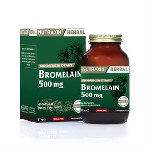 Nutraxin Bromelain 500 mg 60 Kapsül