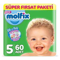 Molfix 3D 5 Beden Junior 60 Adet Bebek Bezi