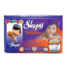 Sleepy Sensitive Pepee 4+ Beden Maxi Plus 26 Adet Bebek Bezi