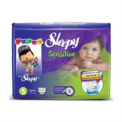 Sleepy Sensitive Pepee 5 Beden Junior 24 Adet Bebek Bezi