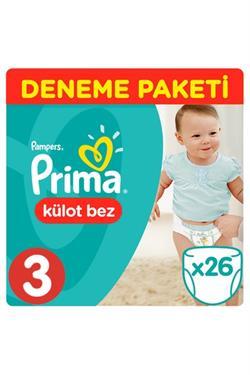 Prima Pants 3 Beden Midi 26 Adet Külot Bebek Bezi