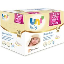 Uni Baby Sensitive 24'lü Paket Islak Pamuk Havlu