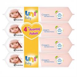 Uni Baby Cream 4'lü Avantaj Paketi Islak Bebek Havlusu