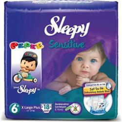 Sleepy Bebek Bezi Large Plus 6+ No 17-27 kg 18 Adet