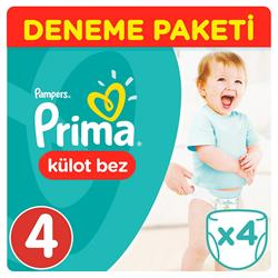 Prima Pants Külot Bebek Bezi Junior 4 Beden Deneme Paketi 4lü
