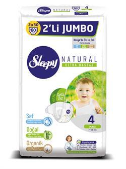 Sleepy  2'li Jumbo Çocuk Bezi Maxi (No:4) 60 Adet