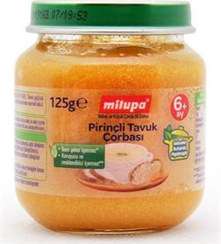 Milupa Pirinçli Tavuk Çorbası 125 gr Kavanoz Maması