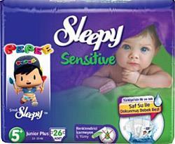 Sleepy Sensitive Pepee 5+ Beden Junior Plus 26 Adet Bebek Bezi