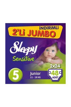 Sleepy Sensitive Pepee 5 Beden Junior 48 Adet Bebek Bezi