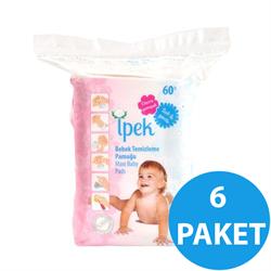İpek 60'lı 6 Paket Bebek Temizleme Pamuğu