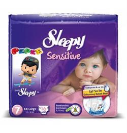 Sleepy Sensitive Bebek Bezi 7 Beden Xxlarge 20-30 Kg- 16 Adet