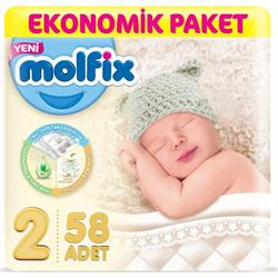 Molfix Bebek Bezi 2 Beden Mini Ekonomik Paket 58 Adet