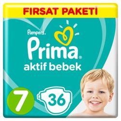 Prima Aktif Bebek 7 Numara XX Large 36 Adet Fırsat Paketi Bebek Bez