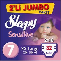 Sleepy Sensitive Bebek Bezi XxLarge 2'li jumbo paket