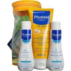 Mustela Protection Lotion Spf 50+ 200 ml + Yeni doğan Şampuan 100 ml + Nemlendirici 100 ml Bebek Güneş Losyonu Seti