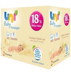 Uni Baby Yenidoğan 40 Yaprak 18'li Paket Islak Mendil