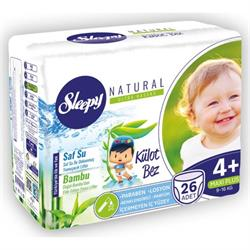 Sleepy Natural 4+ Numara Maxi Plus 26 Adet Külot Bez