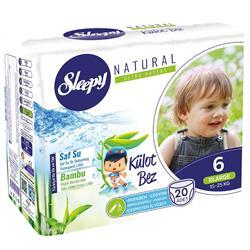 Sleepy Natural 6 Numara Xlarge 20 Adet Külot Bez