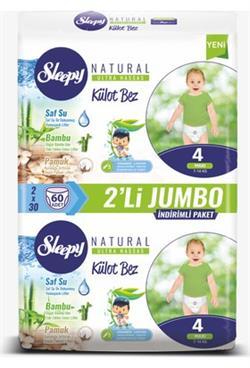 Sleepy Külot Bez 4 Beden-Numara 7-14 Kg Maxi Naturel 60 Adet
