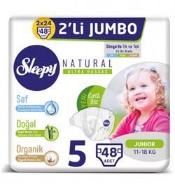 Sleepy Natural 5 Numara 48'li Jumbo Paket