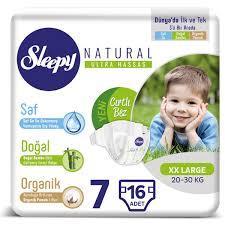 Sleepy Natural Bezi 7 Numara XXLarge 16'lı Bebek Bezi