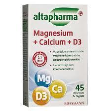 Altapharma magnezyum + kalsiyum + D3 içeren Takviye Edici Gıda 45 Tablet