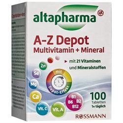 Altapharma A-Z Depo Multivitamin + Mineral 100 Tablet