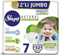 Sleepy Sensitive Pepee 7 Numara XX Large Jumbo 32 Adet Bebek Bezi