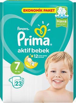 Prima Aktif Bebek 7 Numara XX Large 23'lü Ekonomik Paket Bebek Bezi