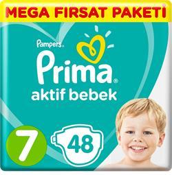 Prima Aktif Bebek 7 Numara XX Large 48'li Mega Fırsat Paketi Bebek Bezi