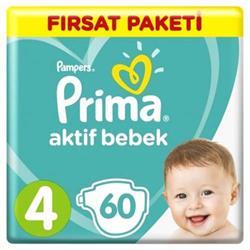 Prima Aktif Bebek No:4 Maxi Fırsat Paketi 60 Adet