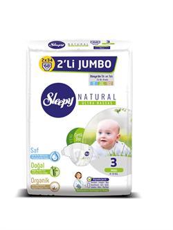 Sleepy Natural 3 Numara Midi 68'li Jumbo Paket Bebek Bezi