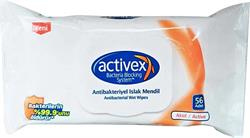 Activex Aktif Antibakteriyel 56 Yaprak Islak Mendil
