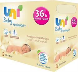 Uni Baby Yenidoğan 50 Yaprak 36'lı Paket Islak Mendil