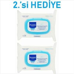 Mustela Facial Cleansing Cloths 25 Yaprak 2'li Paket Islak Mendil