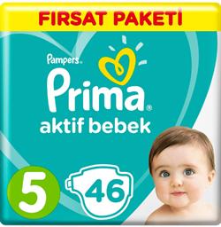 Prima Aktif Bebek 5 Numara Junior 46 Adet Fırsat Paketi Bebek Bezi
