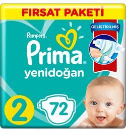 Prima Aktif Bebek 2 Beden 72 Adet Bebek Bezi