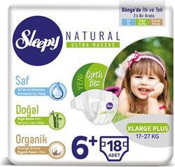 Sleepy Natural 6+ Numara Xlarge Plus 18'li Bebek Bezi