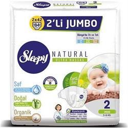 Sleepy Natural 2 Numara Mini 84'lü Jumbo Paket Bebek Bezi