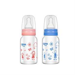 Wee Baby 770 Isıya Dayanıklı Cam 120 ml Biberon 0-6 Ay