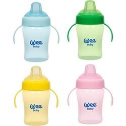 Wee Baby Colorful Akıtmaz 240 ml Kulplu Bardak