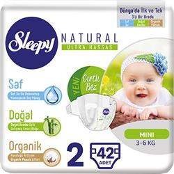 Sleepy Natural 2 Numara Mini 42'li Bebek Bezi