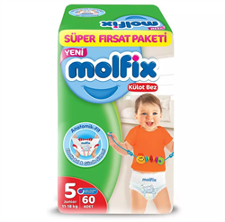 Molfix 5 Numara Junior 60'lı Süper Fırsat Paketi Külot Bez