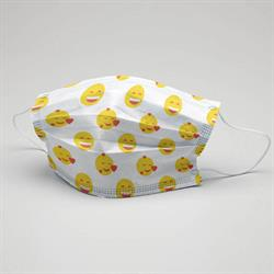Masi Gülen Surat  Çocuk Yüz Maskesi 5 li paket