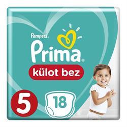 Prima Külot Bebek Bezi 5 Beden Junior 18 adet 12-17 kg