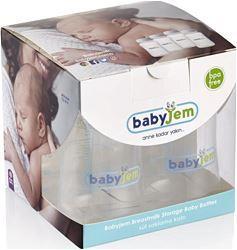 Babyjem 4'lü Süt ve Mama Saklama Kabı Beyaz