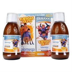 Biolabor Balomega Bal Portakal Limon Aromalı 2'li Paket 200 ml Şurup