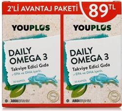 Youplus Daily Omega 3 2'li Paket 30 Kapsül