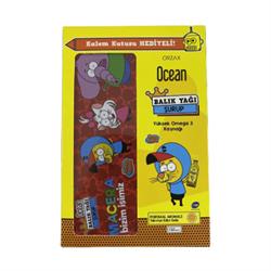 Ocean Kral Şakir Omega 3 Portakallı Balık Yağı Şurubu 150 ml - Kalem Kutusu Hediyeli